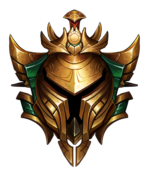 this image represents the gold rank in league of legends